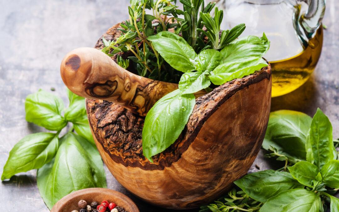 Brug urter til at holde dig rask.